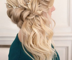 hair, blonde, and hair style image