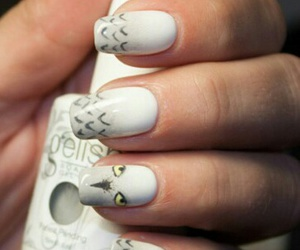 crazy, cute, and white nails image
