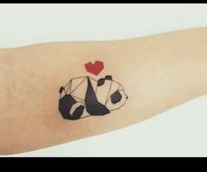 tattoo, panda, and cute image