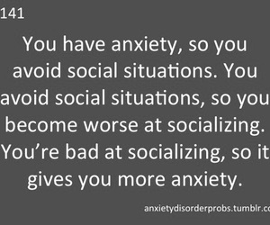 anxiety, social anxiety, and depressed image