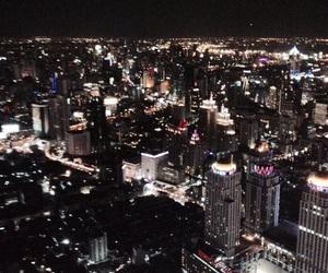 bangkok, city, and night image