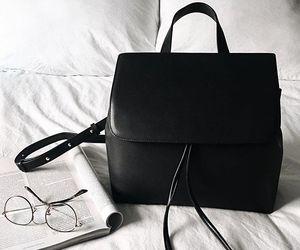 backpack, bag, and black image