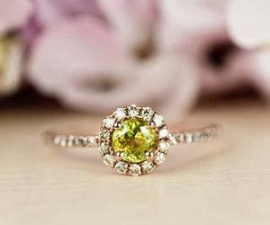 alternative, dainty, and yellow diamond image