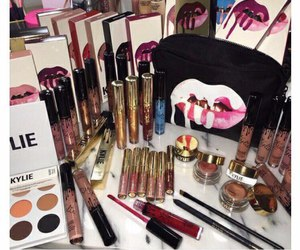 makeup, kylie jenner, and lipstick image