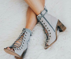 beauty, boots, and grey image