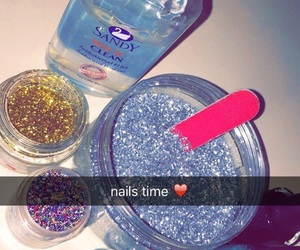 nails, snap, and snap chat image
