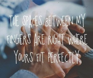 love, quote, and fingers image