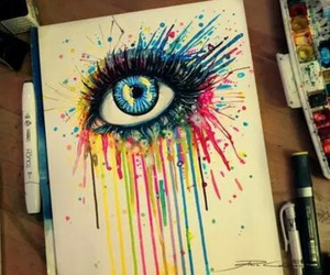 eye, colors, and drawing image