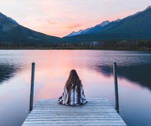 girl, nature, and article image