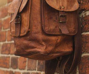 leather, rucksack, and knapsack image