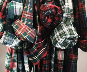 plaid, shirt, and clothes image