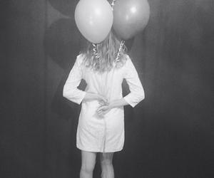 balloons, black, and dress image