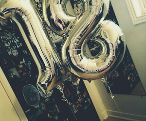 balloons, 18, and birthday image