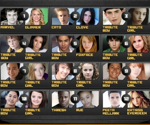 tribute, hunger games, and the hunger games image