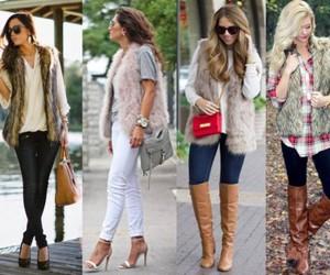 fur vest outfit idea image