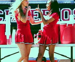 glee, red, and santana lopez image