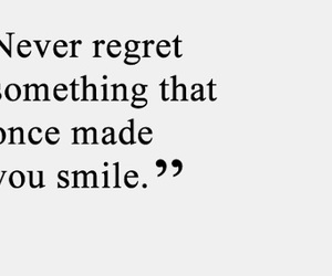 quote, regret, and smile image