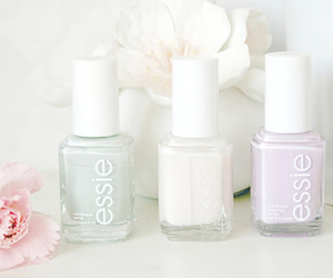 essie, flowers, and nails image