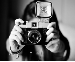 camera, black and white, and photography image