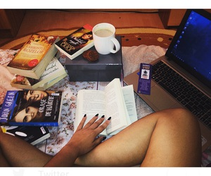 books, relax, and coffe image