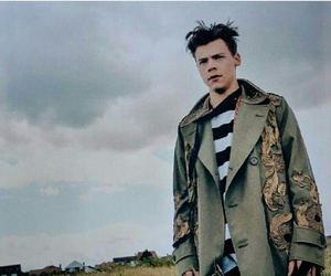 another man, Harry Styles, and model image