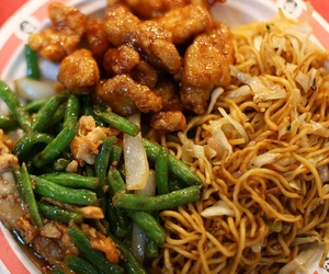 Chicken, food, and noodles image