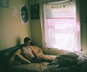 boy, bed, and room image