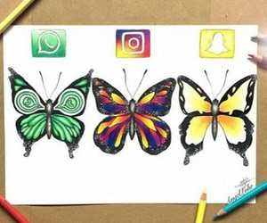 butterfly, art, and whatsapp image