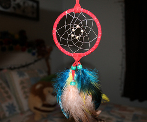 colorfull, dream catcher, and flash image