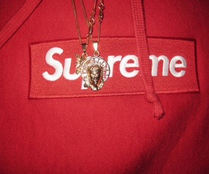 red, supreme, and ghetto image