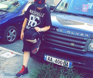 boy, rangerover, and cars image