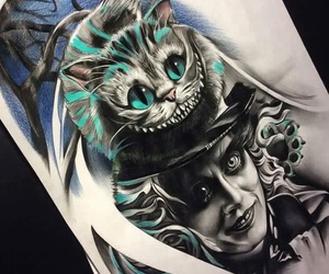 alice in wonderland, art, and tattos image