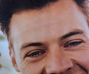 hair, smile, and Harry Styles image