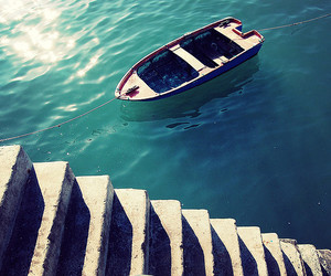 boat, ocean, and photography image
