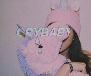 cry baby, crybaby, and unicorn image
