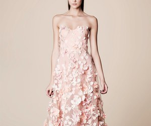dress, pink, and marchesa notte image