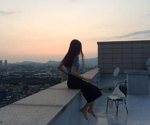 aesthetic, sky, and beautiful girl image
