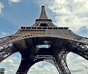 building, eiffel tower, and france image