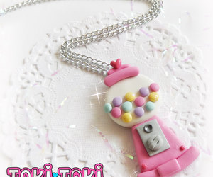 candy necklace, etsy, and gumball machine image