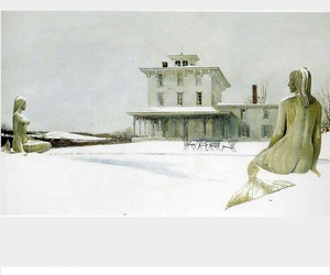 andrew wyeth, mermaid, and painting image