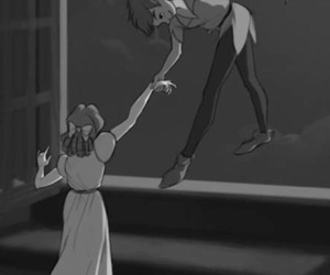 peter pan, neverland, and wendy image