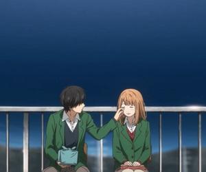 anime, orange, and romance image