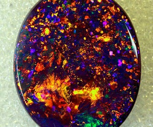 black opal and birthstone image