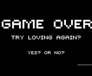 love, game over, and game image