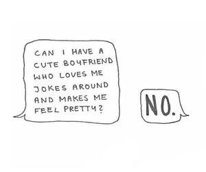 no, boyfriend, and cute image