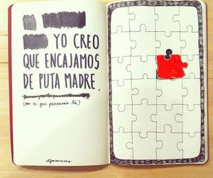 love, frases, and puzzle image