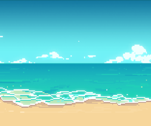 pixels and pixel+beach image