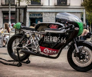 cafe racer and motorcycle image