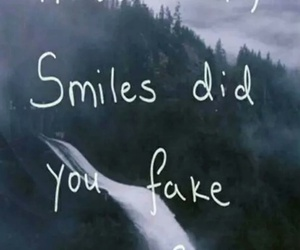 fake and smile image