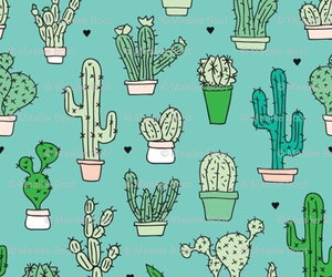cactus, green, and patterns image